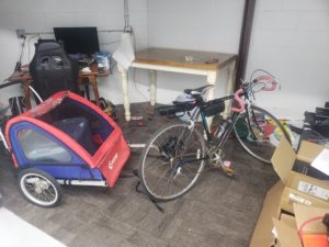 My bike and trailer in my studio