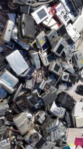 pile of used cameras